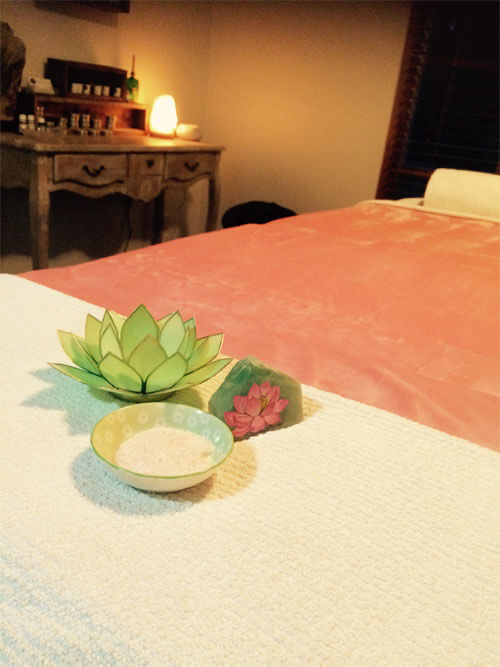 therapeutic massage treatment room